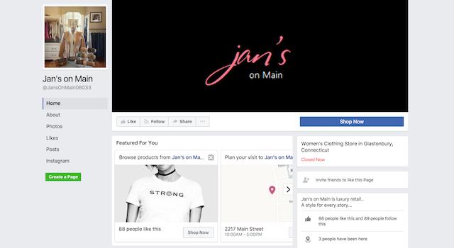 Jans on Main Facebook