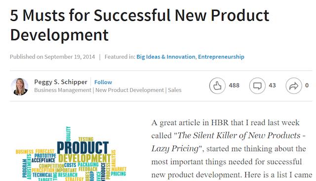 LinkedIn Publishing Sample Article