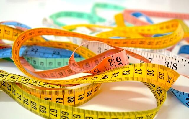 Colorful measuring tape