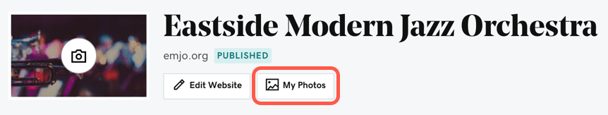 My Photos is now a button in your Dashboard. Screenshot showing the location.