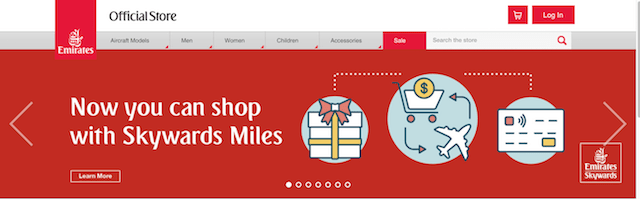 Emirates Online Store Shop with Miles