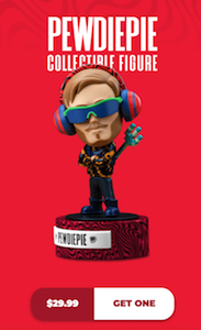 PewDiePie Collectible Figure from Online Store