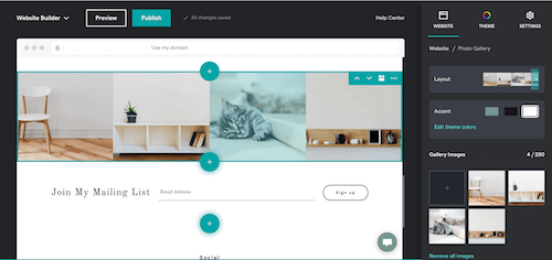 Website Builder in GoDaddy Websites + Marketing