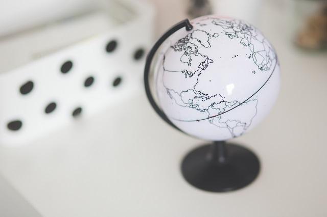 Globe Resting On Desk