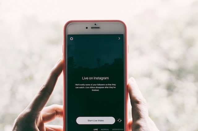 Instagram Live on smartphone
