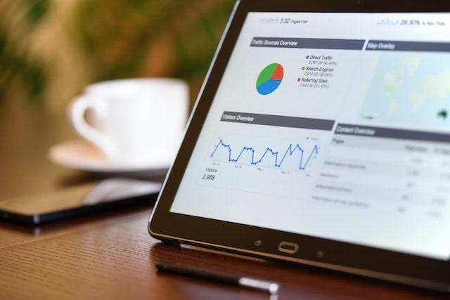 Website analytics on tablet