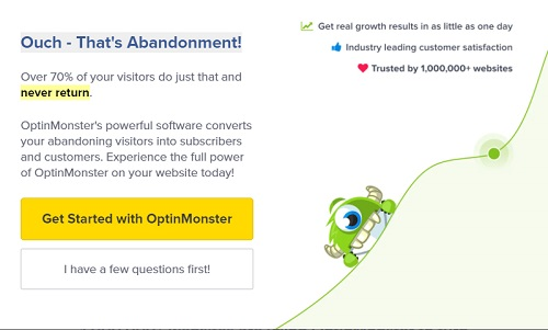 Abandonment rate information from OptinMonster