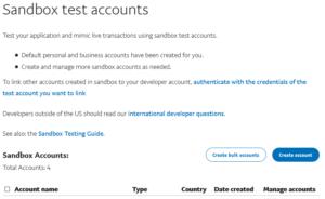 PayPal Standard on WooCommerce Sandbox