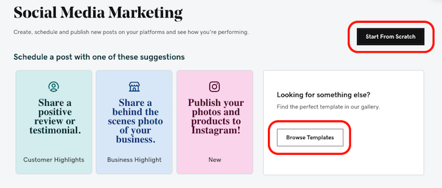 GoDaddy Websites + Marketing Dashboard Screenshot