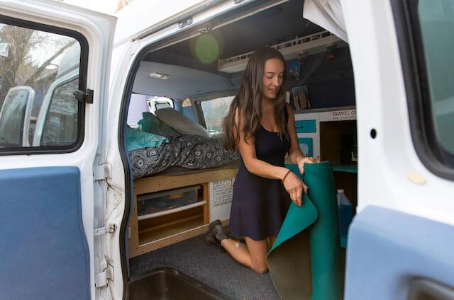 Lizzy VanPatten in van