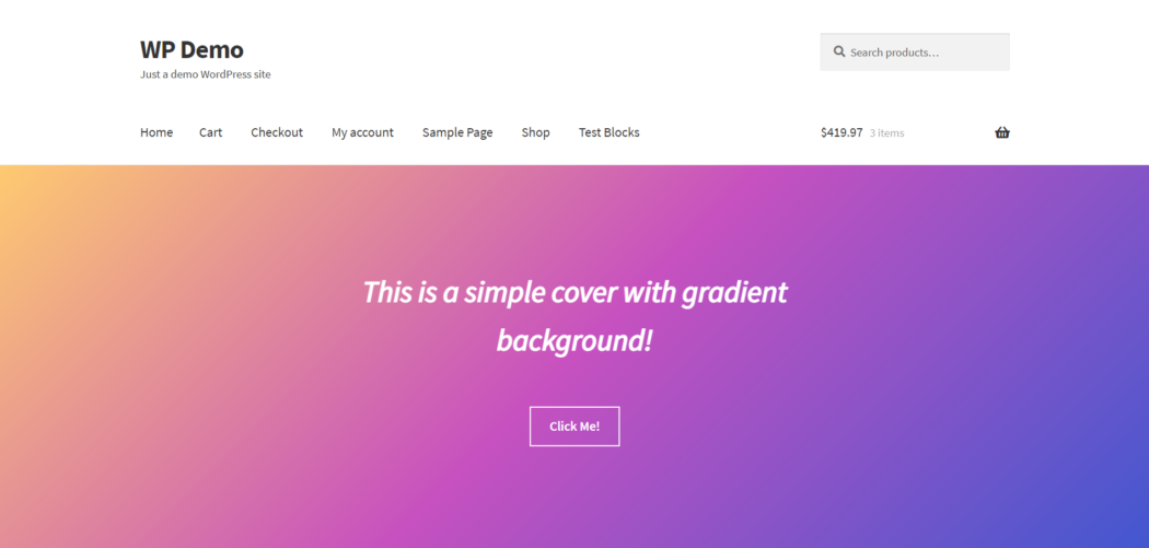 Create WooCommerce Pages Gradient