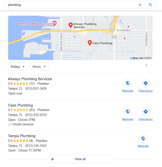 Plumbing Google Search 3