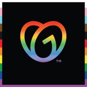 GoDaddy Logo for Pride Month
