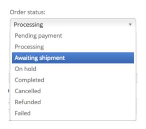 Order status - Awaiting shipment