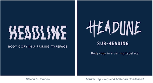 Street font pairings example