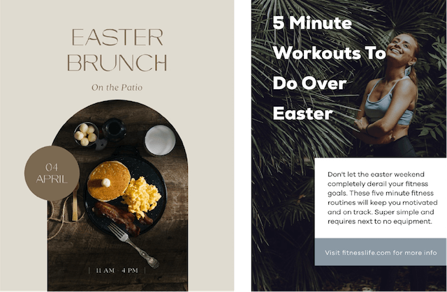 GoDaddy Studio templates made for Easter