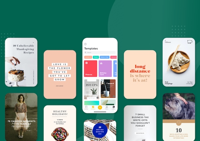 Pinterest templates in GoDaddy Studio