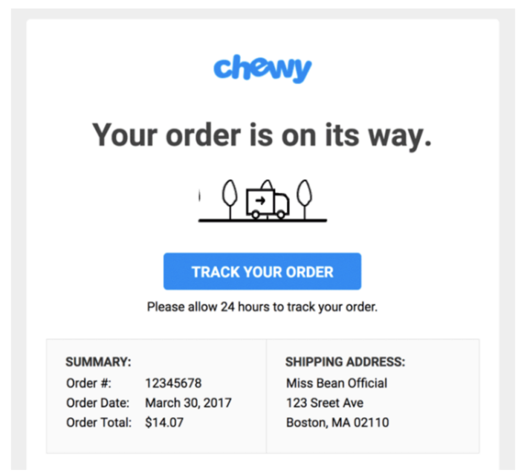 Chewy orders