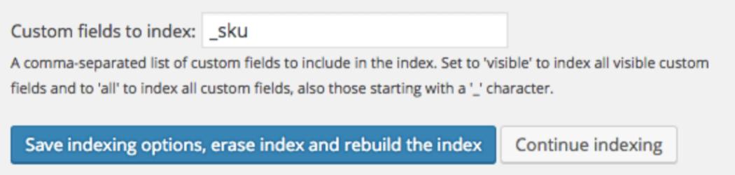 Custom field to index