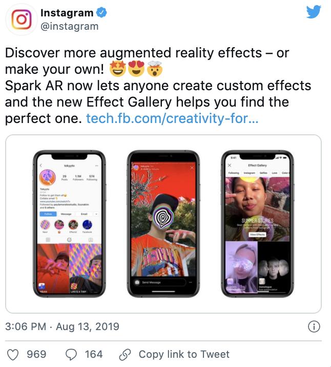 Tweet about Instagram