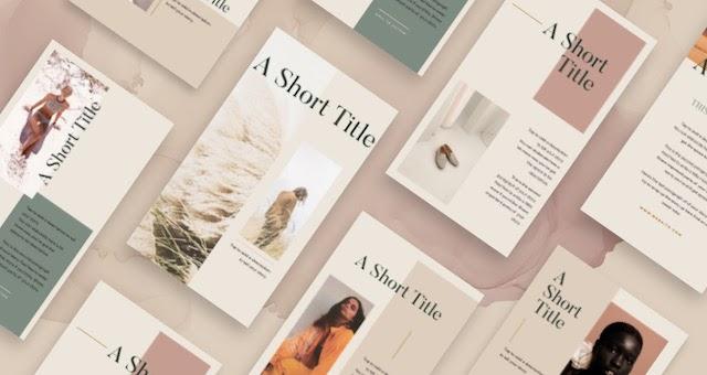Cover Story templates in GoDaddy Studio