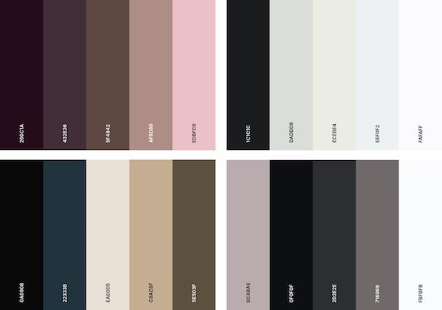 Luxury color palette