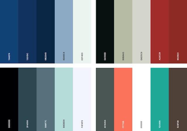 Corporate color palette