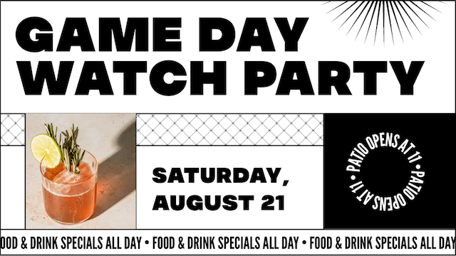 Game Day watch party social ad made with GoDaddy Studio