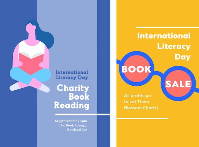 International Literacy Day social ads with GoDaddy Studio