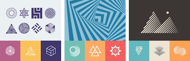 Modern graphic pack from GoDaddy Studio