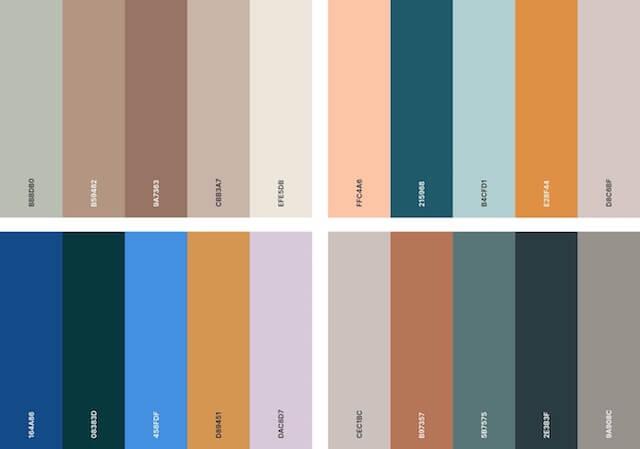 Organic color palette
