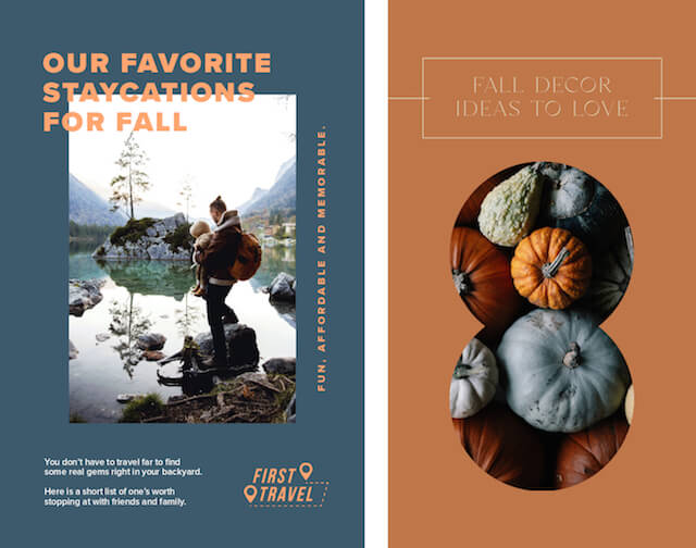 GoDaddy Studio TEmplates with fall colors