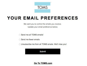 Opt out email