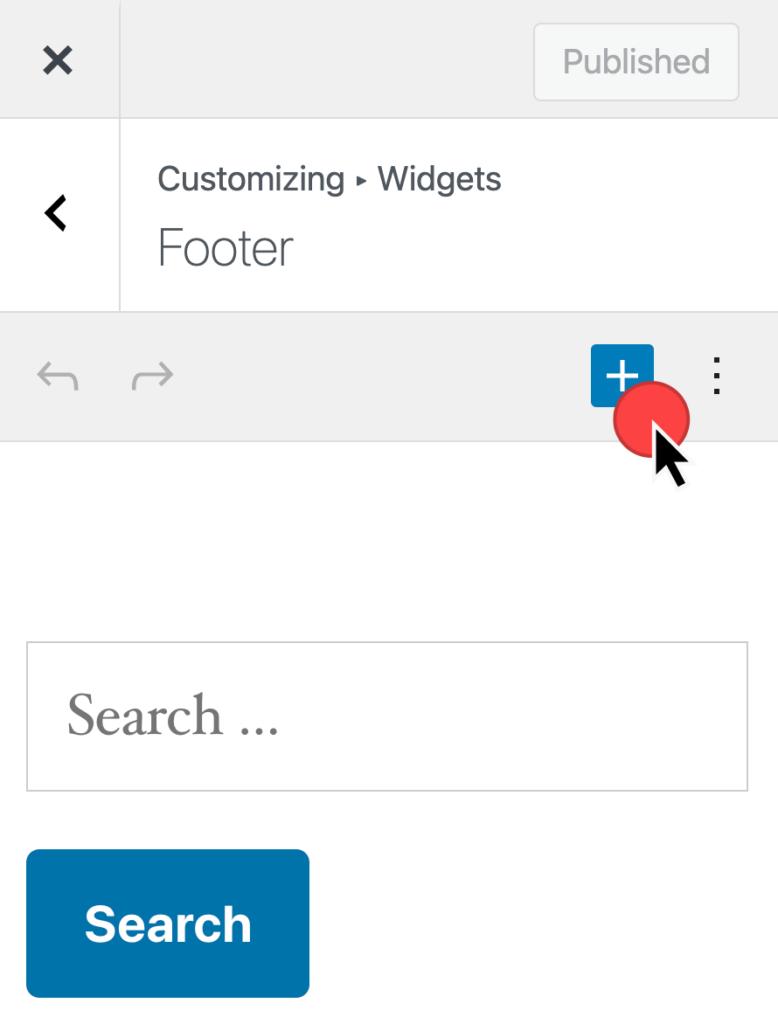 Insert a Widget at Appearance > Customizer > Widgets