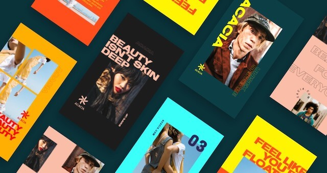 Colorful GoDaddy Studio Templates Collection