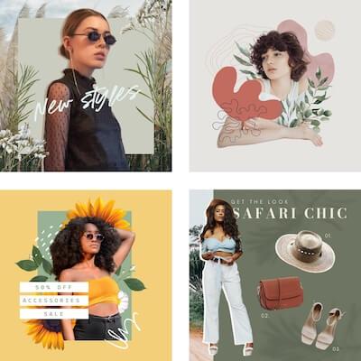 New style collage using GoDaddy Studio