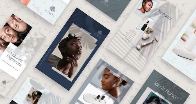 Neutral Godaddy Studio templates collection