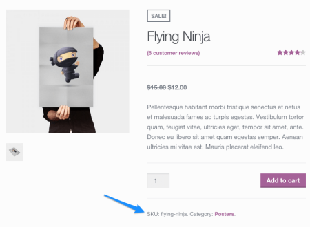 SKUs on Product Page