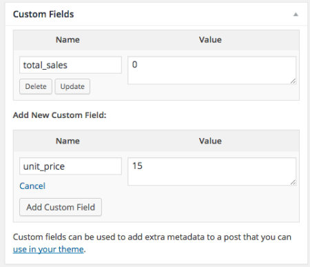 add custom field