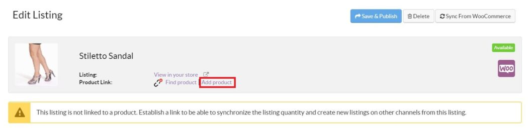 Connect Amazon WooCommerce Add Product