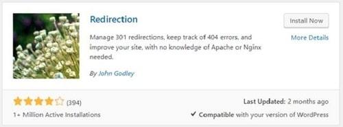 301 Redirects WordPress Redirection Plugin