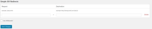 301 Redirects WordPress Simple 301 Redirects
