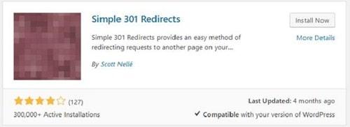 301 Redirects WordPress Simple Plugin