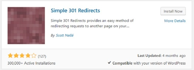 301 Redirects WordPress Simple