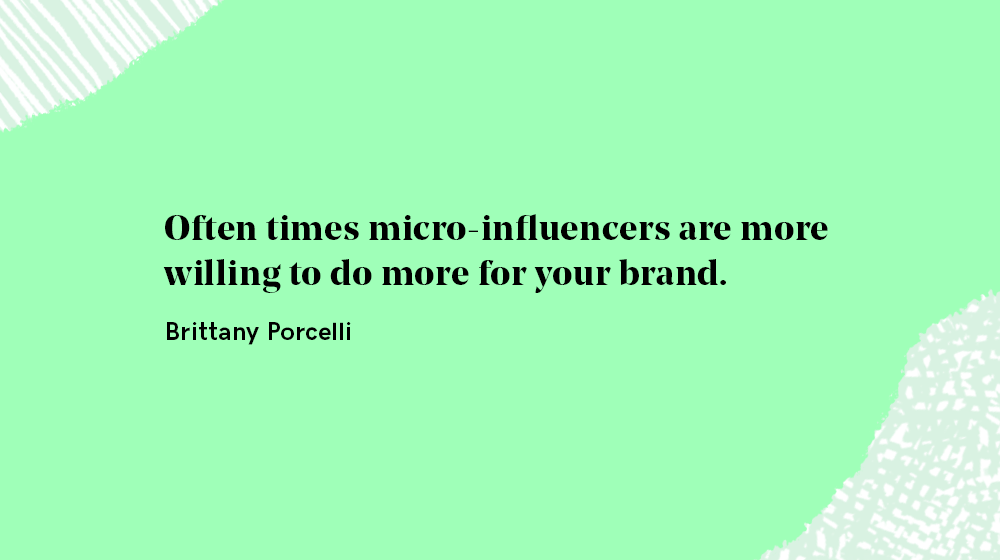 micro-influencers are willing to do more