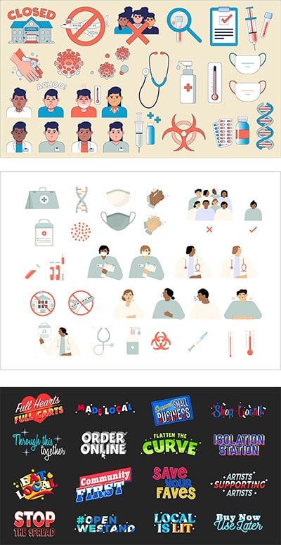 COVID 19 Graphic Packs Example