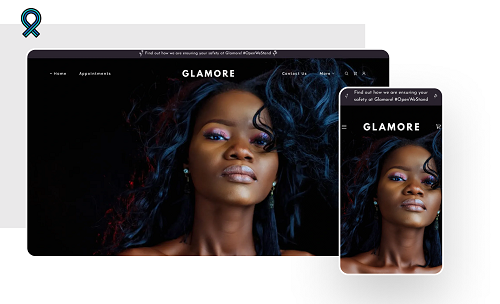 Beauty Template Featuring Model