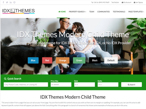 IDX Themes Modern Child Theme Screenshot