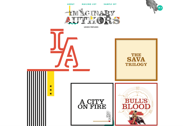 Imaginary Authors Website