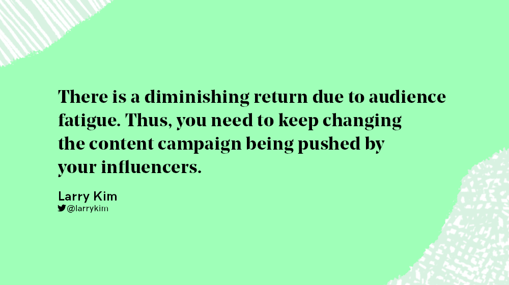 diminishing return of influencer campaigns